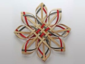 Photo of Billie Ruth Sudduth's Carolina Snowflake in Red, Green, and Walnut