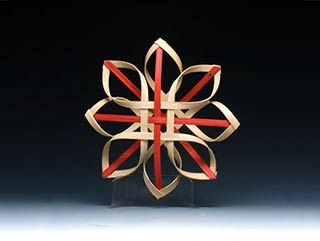 Billie Ruth Sudduth's Carolina Snowflake in Red and Walnut