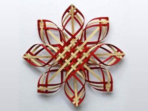 Photo of Billie Ruth Sudduth's Red-Walnut Extra Large Carolina Snowflake
