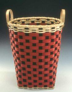 Checkerboard Bushel Basket by Billie Ruth Sudduth
