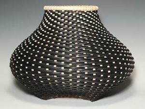 Photo of Billie Ruth Sudduth's Contemporary Cat's Head Basket in Black and Walnut