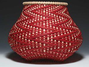 Crimson Tide Basket by Billie Ruth Sudduth