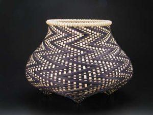 Photo of Billie Ruth Sudduth's Fibonacci 8 basket in Black and Walnut