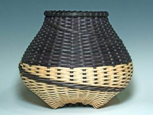 Photo of Billie Ruth Sudduth's Large Signature Basket in Black and Walnut
