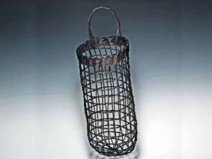 Onion Potato Basket in Black by Billie Ruth Sudduth