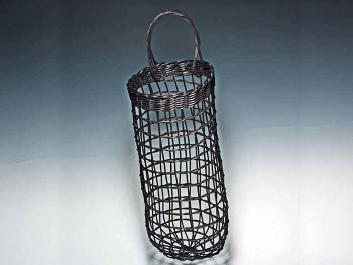 Potato Onion Basket in Black by Billie Ruth Sudduth