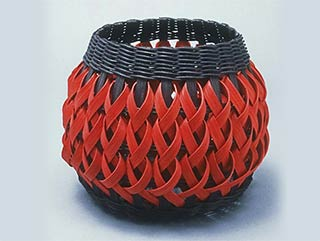 Photo of Penland Pottery Basket in Black and Red