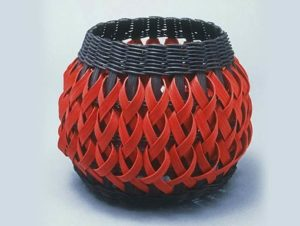 Penland Basket in Black and Red by Billie Ruth Sudduth