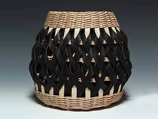 Penland Pottery Basket in Walnut and Black by Billie Ruth Sudduth