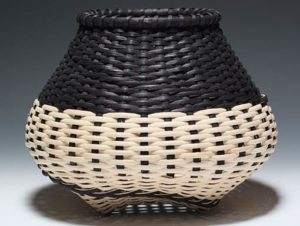 Photo of Billie Ruth Sudduth's Signature Basket with Black Overlay