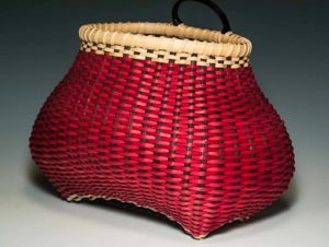Large Checkerboard Shaker Cat's Head Wall Basket by Billie Ruth Sudduth