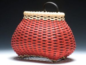 Small Checkerboard Shaker Cat's Head Wall Basket by Billie Ruth Sudduth